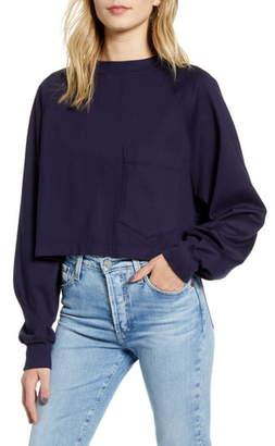 AG Jeans Cubo Pocket Crop Sweatshirt