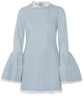 Marques Almeida Marques' Almeida - Frayed Denim Mini Dress - Light denim