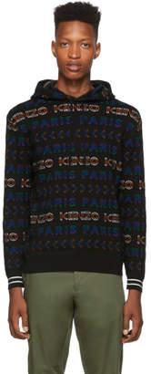 Kenzo Multicolor Wool Allover Logo Hoodie