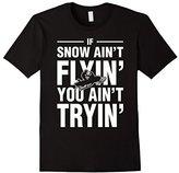 Lego Men's Snowmobile If Snow Aint Flyin You Aint Tryin T-Shirt XL