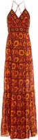 Thumbnail for your product : BA&SH Kemi Printed Silk-voile Maxi Wrap Dress