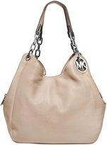 Michael Kors Fulton Leather Tote Shoulder Handbag (Black)
