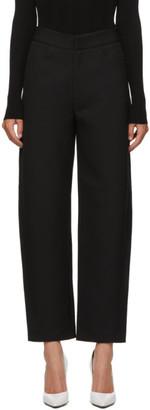 Totême Black Novara Crepe Trousers