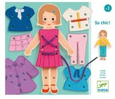 Djeco Girl's So Chic Lacing Dress-Up Doll