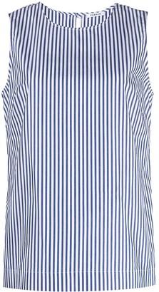 P.A.R.O.S.H. Striped Sleeveless Cotton Blouse