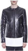 Diesel Black Gold Zipped Leather Jacket