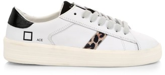 D.A.T.E Ace Animalier Leather Sneakers