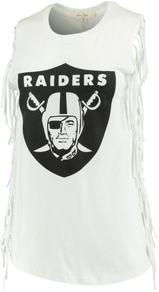 Junk Food Clothing Unbranded Women's White Oakland Raiders Fringe Tank Top