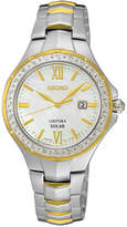 Seiko Women's Coutura Solar Diamond Accent Two-Tone Stainless Steel Bracelet Watch 29mm SUT240