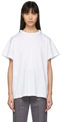 Maison Margiela White Padded Collar T-Shirt