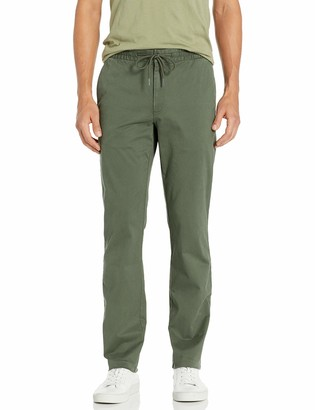 "Goodthreads Straight-fit Washed Chino Drawstring Pant Olive Medium/30"" Inseam"