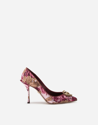 Dolce & Gabbana Jacquard Devotion Pumps