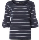 Dorothy Perkins Womens **Only Navy And White Stripe Jumper- Blue