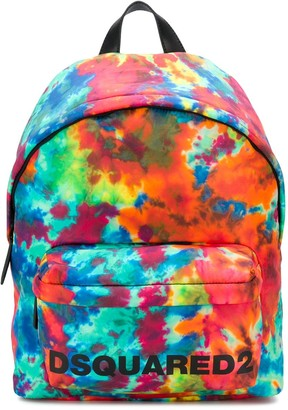 DSQUARED2 tie-dye print backpack