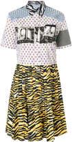 Prada patchwork shirt dress