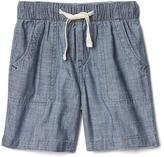 Gap 1969 Pull-On Chambray Shorts