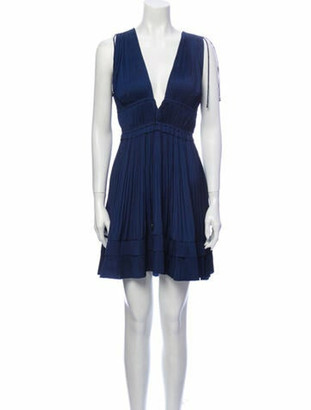 Ulla Johnson Plunge Neckline Mini Dress w/ Tags Blue