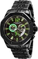 Stuhrling Original Original Men's Nemo IP Steel Bracelet & Case Swiss Quartz Multicolor Dial Analog Watch 181CR.335971