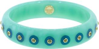 Mark Davis Blue Bakelite Peridot Bangle