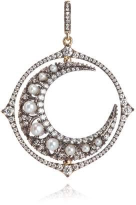 Annoushka Mythology White Gold, Pearl and Diamond Pearl Moon Pendant