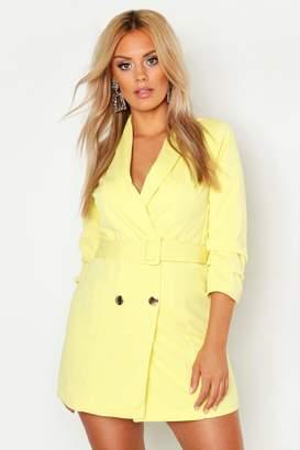 boohoo Plus Ruched Sleek Blazer Dress