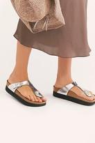 Birkenstock Gizeh Platform Sandals by at Free People, Metallic Silver, EU 36