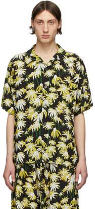 Loewe Black and Yellow Satin Shirt