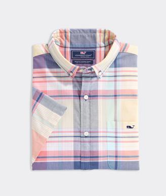 Vineyard Vines Slim Fit Wintucket Island Madras Tucker Short-Sleeve Button-Down Shirt