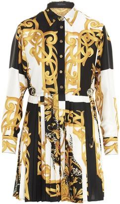 Versace Versacen Baroque Pleated Shirt Dress