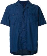 Factotum open collar short sleeve shirt - men - Cotton/Lyocell - 44