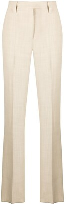 Salvatore Ferragamo High-Waisted Straight-Leg Trousers