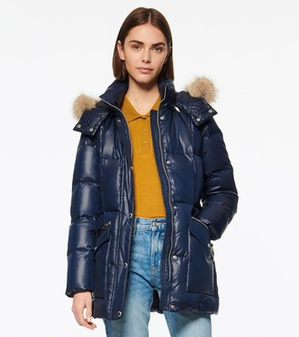 Andrew Marc CHARLOTTE BELTED DOWN PUFFER JACKET
