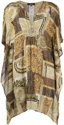 Versace Barocco Patchwork print kaftan
