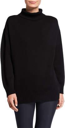 Max Mara Leisure Ribbed Trim Wool Turtleneck Sweater