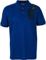 Alexander McQueen peacock feather polo shirt - men - Cotton - XS