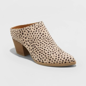 Universal Thread Women's Makana Leopard Booties - Universal ThreadTM