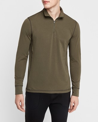 Express Mock Neck Quarter Zip Pullover