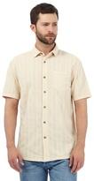Mantaray Beige Textured Striped Shirt