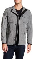 Vince Leather Trim Modern Field Jacket