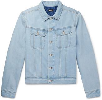 A.P.C. Padded Denim Trucker Jacket - Men - Blue