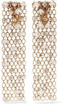Lanvin Gold-tone Crystal Clip Earrings