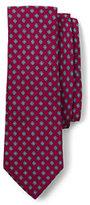 Lands' End Men's Long Silk Linen Printed Circle Neat Necktie-Rich Papaya Circle Neat