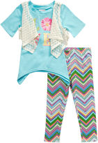 Youngland Young Land 3-pc. Legging Set-Preschool Girls