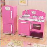Kid Kraft Retro Kitchen and Refrigerator Bubblegum