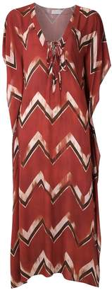BRIGITTE chevron maxi dress