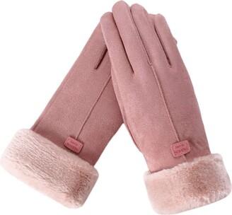 xuebinghualoll Women's Touch Screen Gloves Winter Warm Fleece Lined Thick Mittens for Outdoor Driving Ski