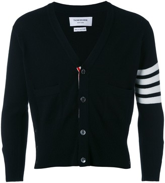 Thom Browne four stripe sleeve cardigan
