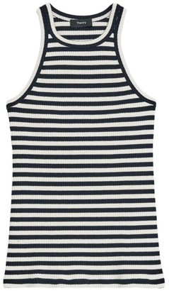 Theory Striped Racerback Tank