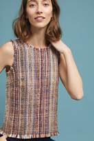 Maeve Maron Sleeveless Tweed Shell Top