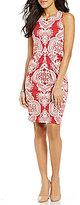 J.Mclaughlin Mia Sleeveless Pleated Print Dress